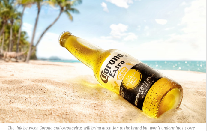 A close up of a Corona Beer bottle