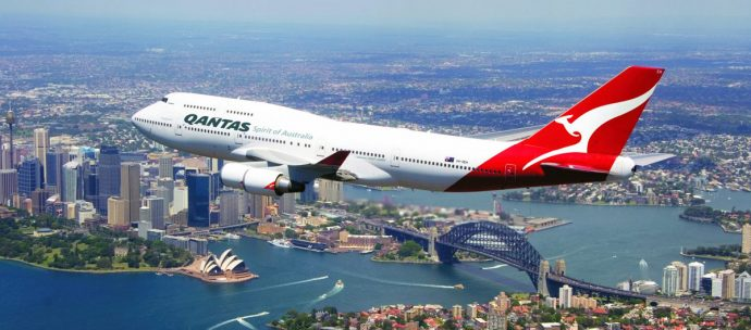 Qantas 747 last flight over Sydney