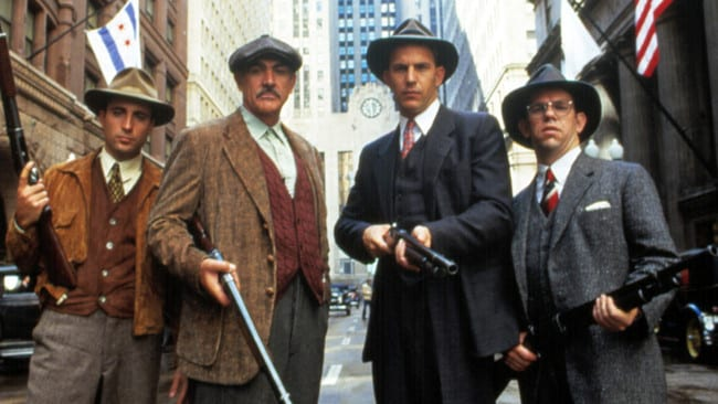 """Andy Garcia, from left, Sean Connery, Kevin Costner and Charles Martin Smith in """"The Untouchables."""""""