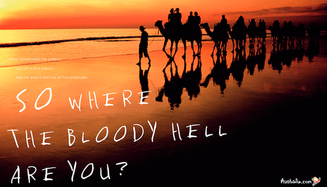 Throwback: 'Where the bloody hell are you?' tourism campaign